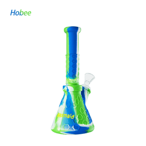 Waxmaid Hobee Silicone Water Pipe-Blue white green