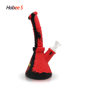 Waxmaid Hobee S silicone honeycomb water pipe- black red