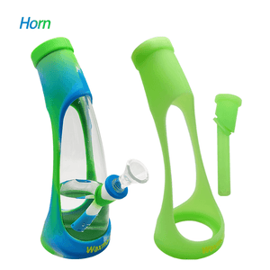 Waxmaid Horn Silicone Glass Glow in the Dark Water Pipe