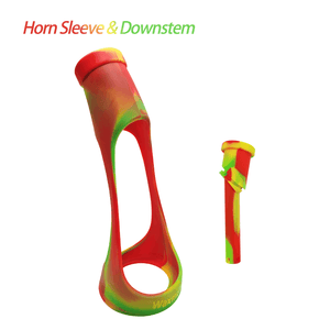 Waxmaid Horn water pipe's sleeve & downstem-rasta