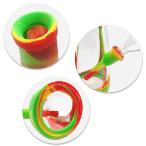 Waxmaid Horn silicone glass water pipe details