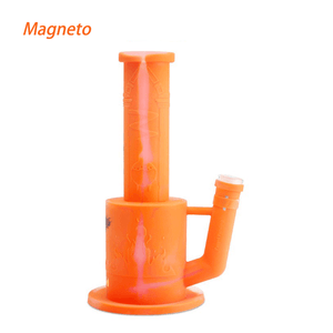 Waxmaid Magneto Honeycomb Percolator Water Pipe-Translucent Orange