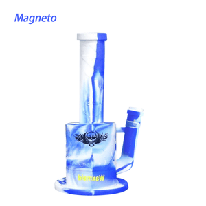 Waxmaid Magneto Silicone Honeycomb Percolator Waterpipe-Blue White