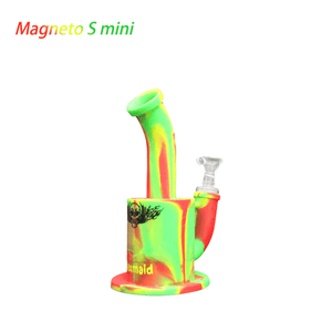 Waxmaid Magneto S mini Silicone Honeycomb Percolator Water Pipe-Rasta