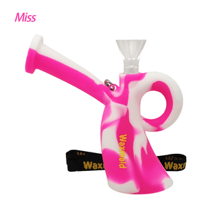 Waxmaid Miss silicone water pipe-Pink White