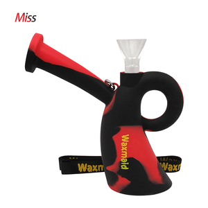Waxmaid Miss silicone water pipe-Black Red