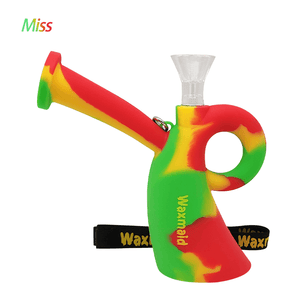 Waxmaid Miss silicone water pipe-Rasta