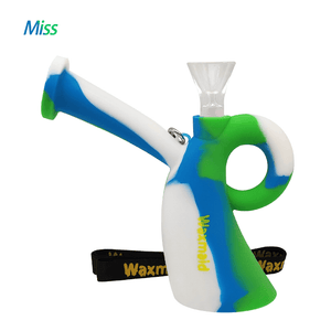 Waxmaid Miss silicone water pipe-Blue white green