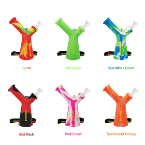 6 Colors of Waxmaid Mr. Y Silicone Water Pipes
