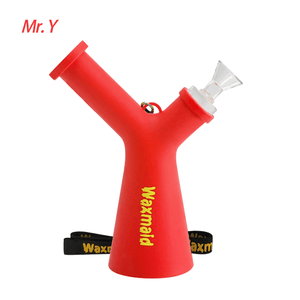 Waxmaid Mr. Y platinum cured silicone water pipe-red
