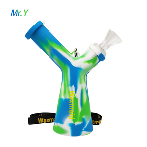Waxmaid Mr. Y Silicone Water Pipe-Blue white green