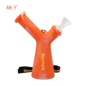 Waxmaid Mr. Y Silicone Water Pipe-Transluscent Orange
