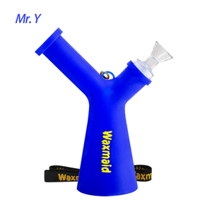 Waxmaid Mr. Y platinum cured silicone water pipe-blue