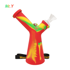 Waxmaid Mr. Y platinum cured silicone water pipe-rasta