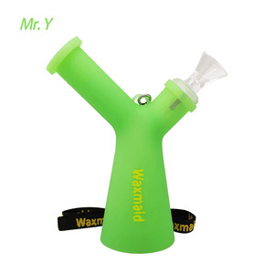 Waxmaid Mr. Y silicone water pipe- Glow in the dark green