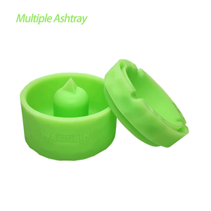 "Waxmaid 4.29"" Pyramid Silicone Round Ashtray GID Green"