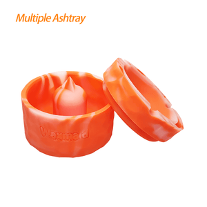 "Waxmaid 4.29"" Pyramid Silicone Round Ashtray Orange"