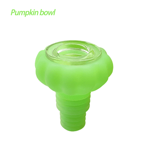 Waxmaid Pumpkin glass silicone bowl glow in the dark green