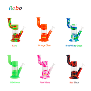 Waxmaid Robo silicone glass Water Pipe 6 Colors