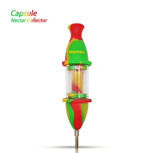 Waxmaid Silicone Glass Nectar Collector-Rasta