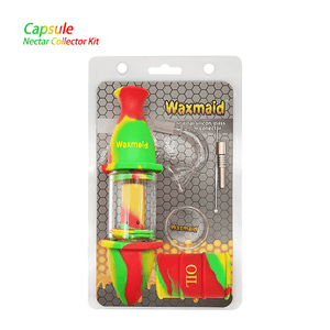 Waxmaid Silicone Glass Nectar Collector Kit-Rasta