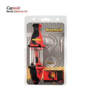Waxmaid Silicone Glass Nectar Collector Kit-Black Red