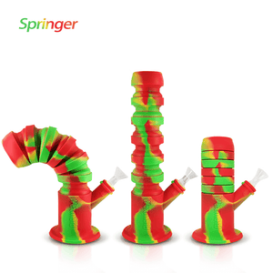 Waxmaid Springer collapsible silicone water pipe- Rasta