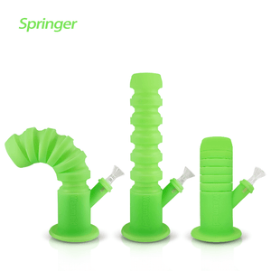 Waxmaid Springer flexible water pipe glow in the dark green