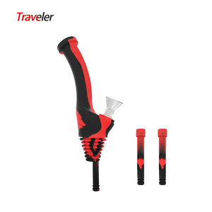 Waxmaid Water Bottle Pipe Traveler-Black Red