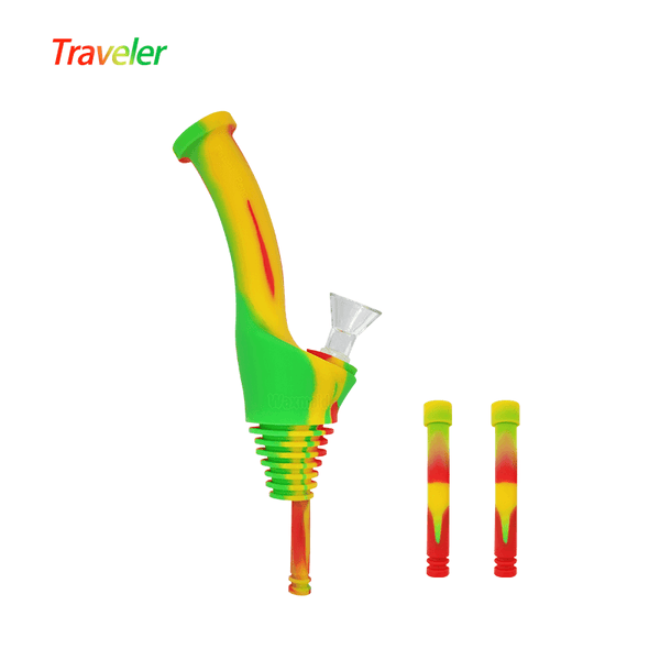 Waxmaid Water Bottle Pipe Traveler-Rasta