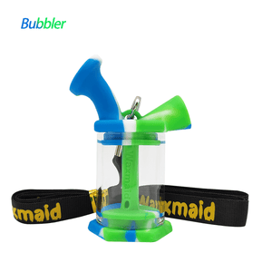 Waxmaid blunt bubbler-blue white green