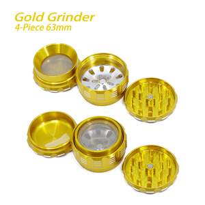 Waxmaid 4 piece dry herb grinder details 63mm