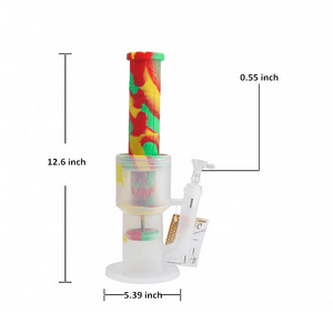 Waxmaid Crystor hookah water pipe size and dimension