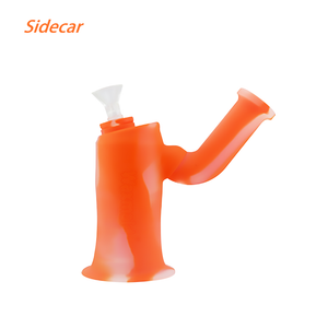 Waxmaidsidecarcheapwaterpipessmokingrig Translucent Orange