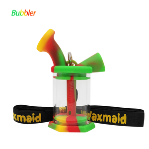 Waxmaid silicone mini water bubbler-rasta