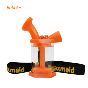 Waxmaid mini blunt bubbler-translucent orange