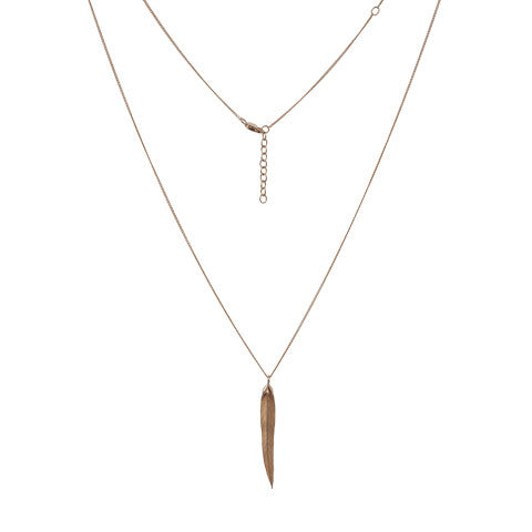 Feather Necklace, Long, earring