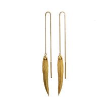 Feather Long, earring