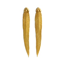 Feather Studs, earring