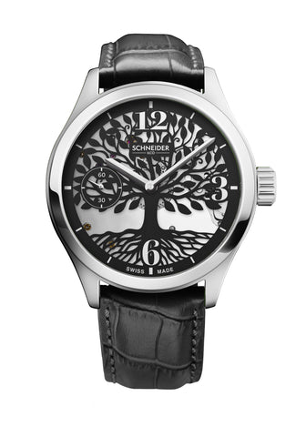 Tree of life silver and black