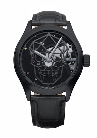 Schneider&Co Calavera All Black Aluminum Watch