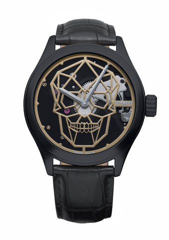 Schneider&Co Calavera Black Gold Aluminum Watch