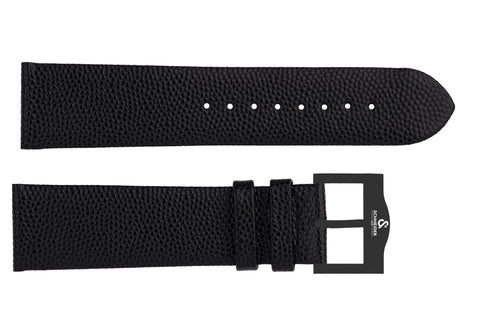 Galuchat strap/black buckle