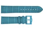 Light blue croco imitation leather strap/light blue Buckle