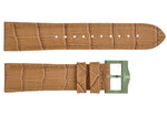 Brawn croco imitation leather strap/green Buckle