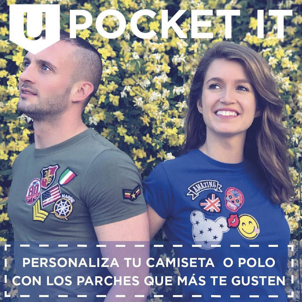 Camiseta Parches Upocket it