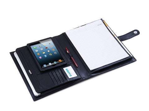 Deluxe Leather Folio Case, Fits  iPad Mini 4 / iPad mini 3 / iPad mini 2 / iPad mini and Letter Paper
