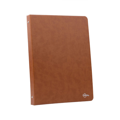 Binder Portfolio Organizer with Color File Folders Business and Interview Padfolio with 3-Ring Binder Clipboard