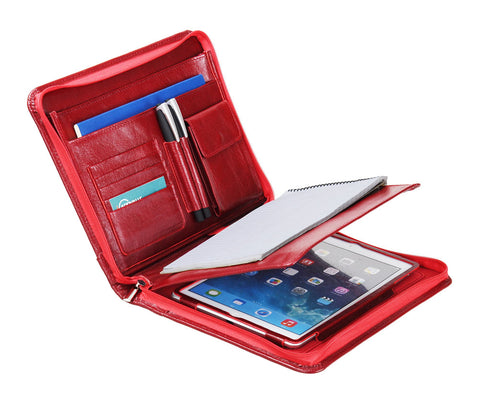 Deluxe Leather Organizer Padfolio for iPad and A5 Paper