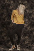 Women camel square sweatshirt